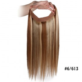 Flip In Straight #6/613 Remy Human Hair Extensions