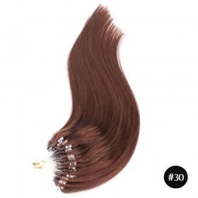 Mirco Loop Straight Human Remy Hair Extensions #30