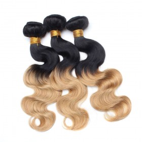 3 Pcs/Lot Ombre Body Wave 100% Human Hair Extensions Weave 1/27